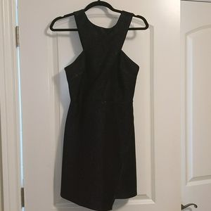 Topshop Black Purple Glitter Dress Size 6